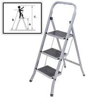 Лестница-стремянка стальная, 5 широких ступеней, Н=152 см, вес 8,25 кг